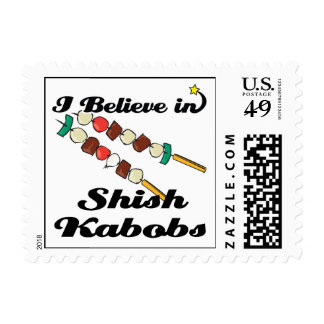 i believe in shish kabobs postage stamps