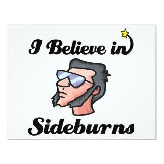 "i believe in sideburns 4.25"" x 5.5"" invitation card"