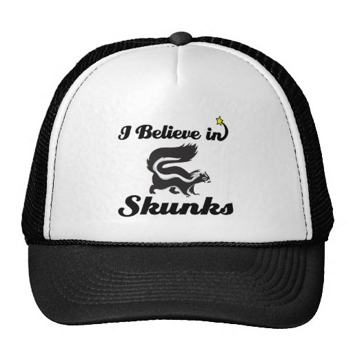 i believe in skunks trucker hat