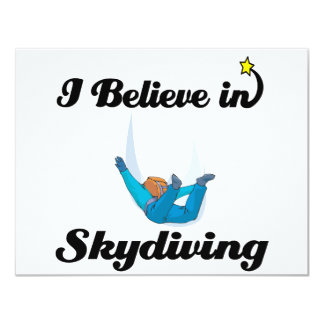 i believe in skydiving card