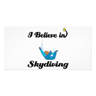 i believe in skydiving picture card