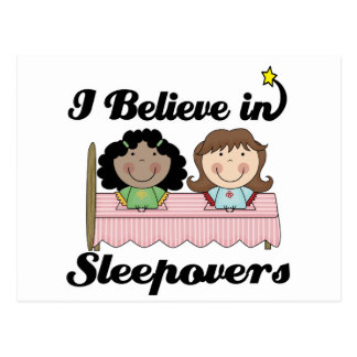 i believe in sleepovers postcard