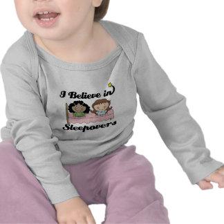 i believe in sleepovers t-shirt