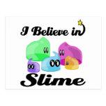 i believe in slime postcard