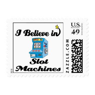 i believe in slot machines stamp