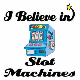i believe in slot machines standing photo sculpture
