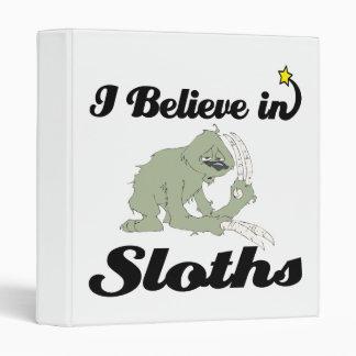 i believe in sloths vinyl binders