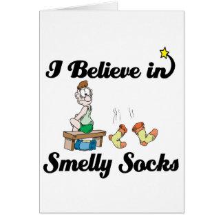 i believe in smelly socks card