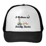 i believe in smelly socks mesh hats