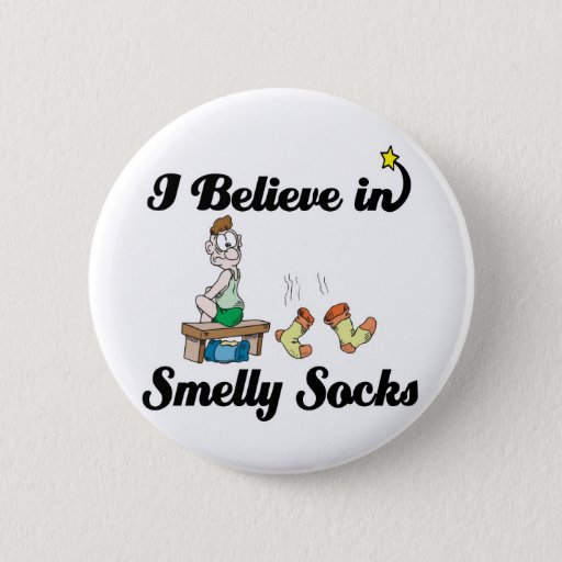 Zazzle i believe in smelly socks Pinback Button