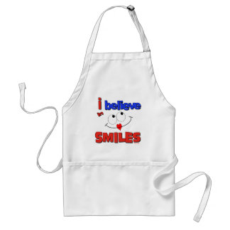 I believe in smiles apron