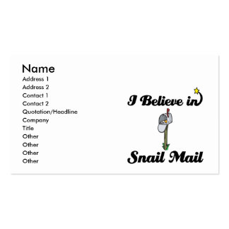 i believe in snail mail business cards