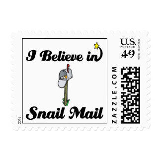 i believe in snail mail postage stamps
