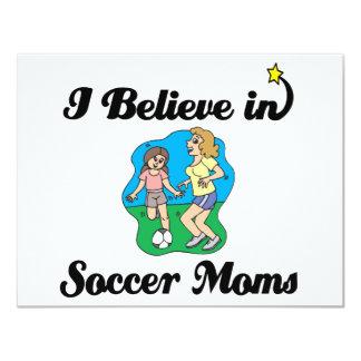 i believe in soccer moms 4.25x5.5 paper invitation card