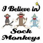 i believe in sock monkeys photo sculpture