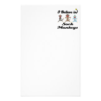 i believe in sock monkeys stationery