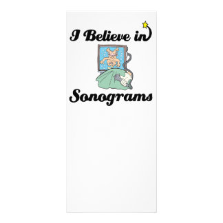 i believe in sonograms personalized rack card
