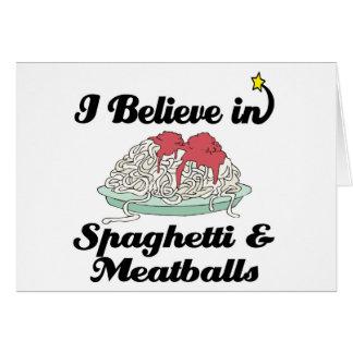 i believe in spaghetti and meatballs card