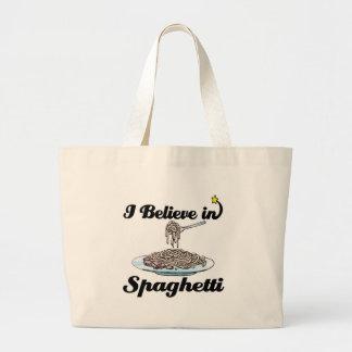 i believe in spaghetti tote bag