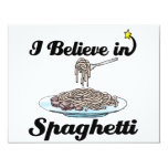 i believe in spaghetti invitations
