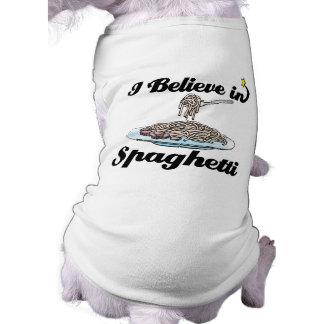 i believe in spaghetti tee