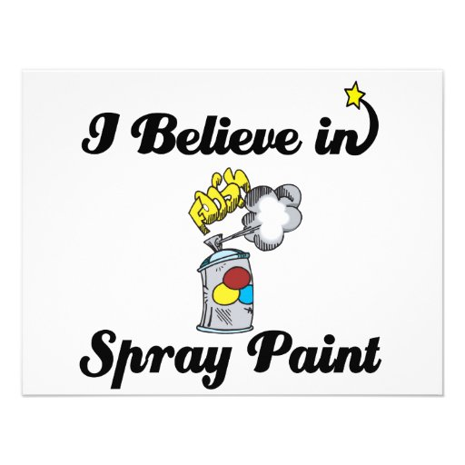 i believe in spray paint personalized invite