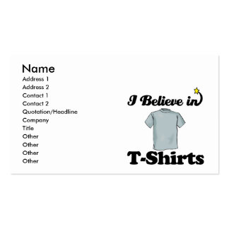 i believe in t-shirts business card templates
