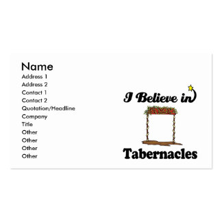 i believe in tabernacles business card