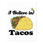 i believe in tacos postcard
