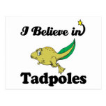 i believe in tadpoles postcard