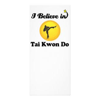 i believe in tai kwon do custom rack card
