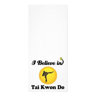 i believe in tai kwon do rack card