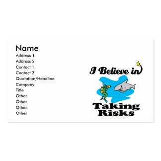 i believe in taking risks business card templates
