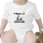 i believe in talking to garden gnome tee shirt