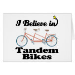 i believe in tandem bikes card