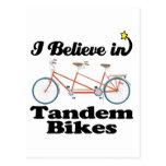 i believe in tandem bikes postcards