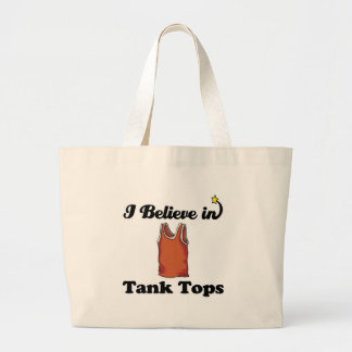 i believe in tank tops jumbo tote bag