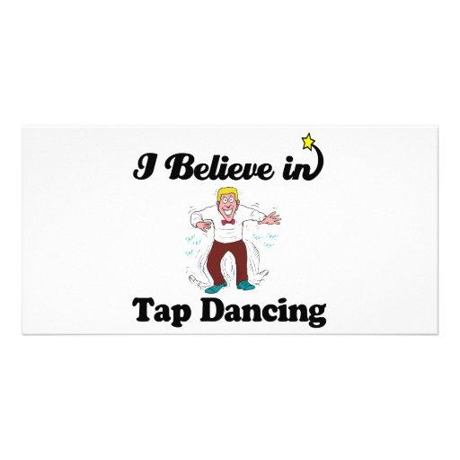 i believe in tap dancing photo card