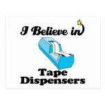 i believe in tape dispensers postcard