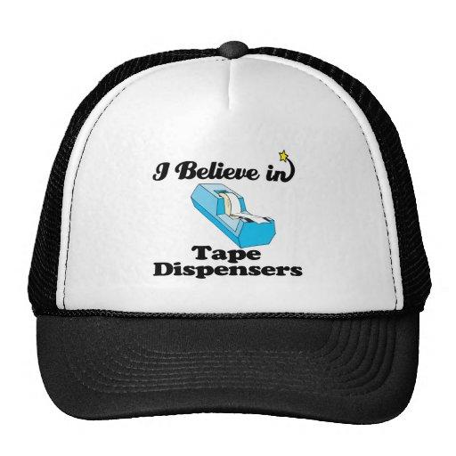 i believe in tape dispensers trucker hat