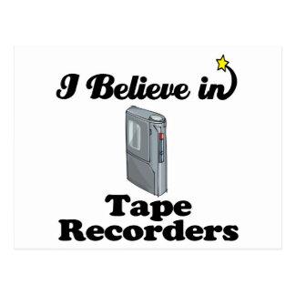 i believe in tape recorders postcard