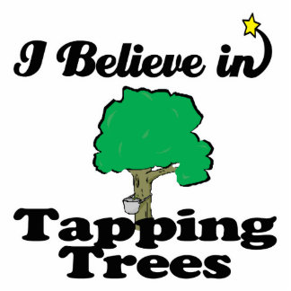 i believe in tapping trees photo cutout