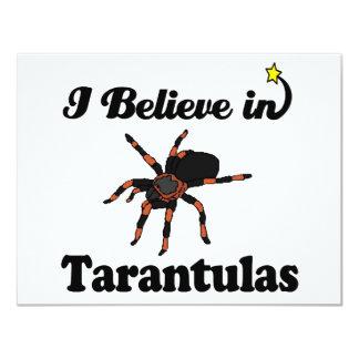 "i believe in tarantulas 4.25"" x 5.5"" invitation card"