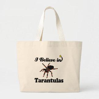 i believe in tarantulas large tote bag