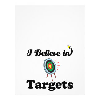 i believe in targets custom flyer