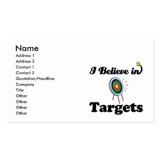 i believe in targets Double-Sided standard business cards (Pack of 100)
