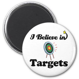 i believe in targets refrigerator magnet