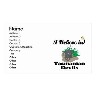 i believe in tasmanian devils business card