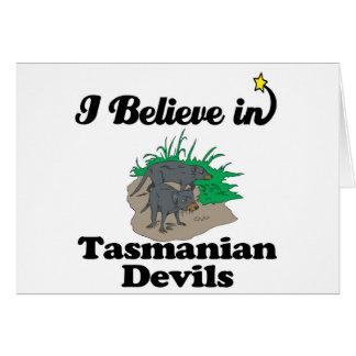 i believe in tasmanian devils greeting card