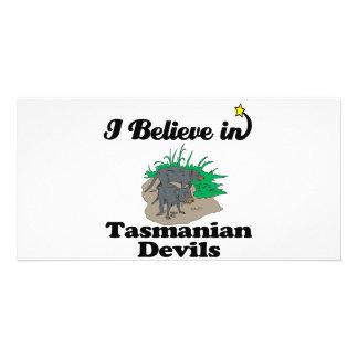 i believe in tasmanian devils photo card